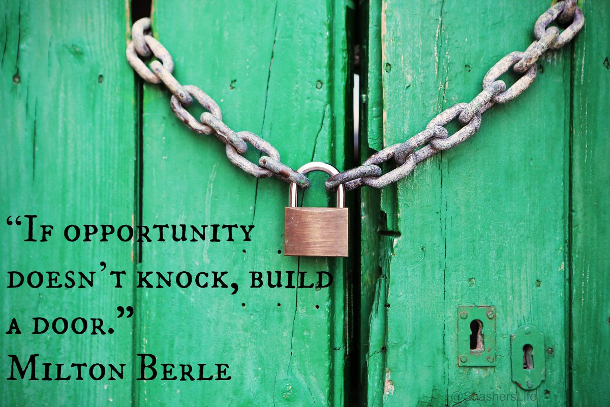 """If opportunity doesn't knock, build a door."" - Milton Berle #ManulifeReady http://t.co/7QC7efCcxP"