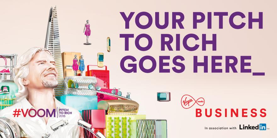 You heard it from @richardbranson.  #Pitchtorich and win £1m…we're making the UK go  #Voom http://t.co/Wumrlipk0B http://t.co/5okeg9mKj6