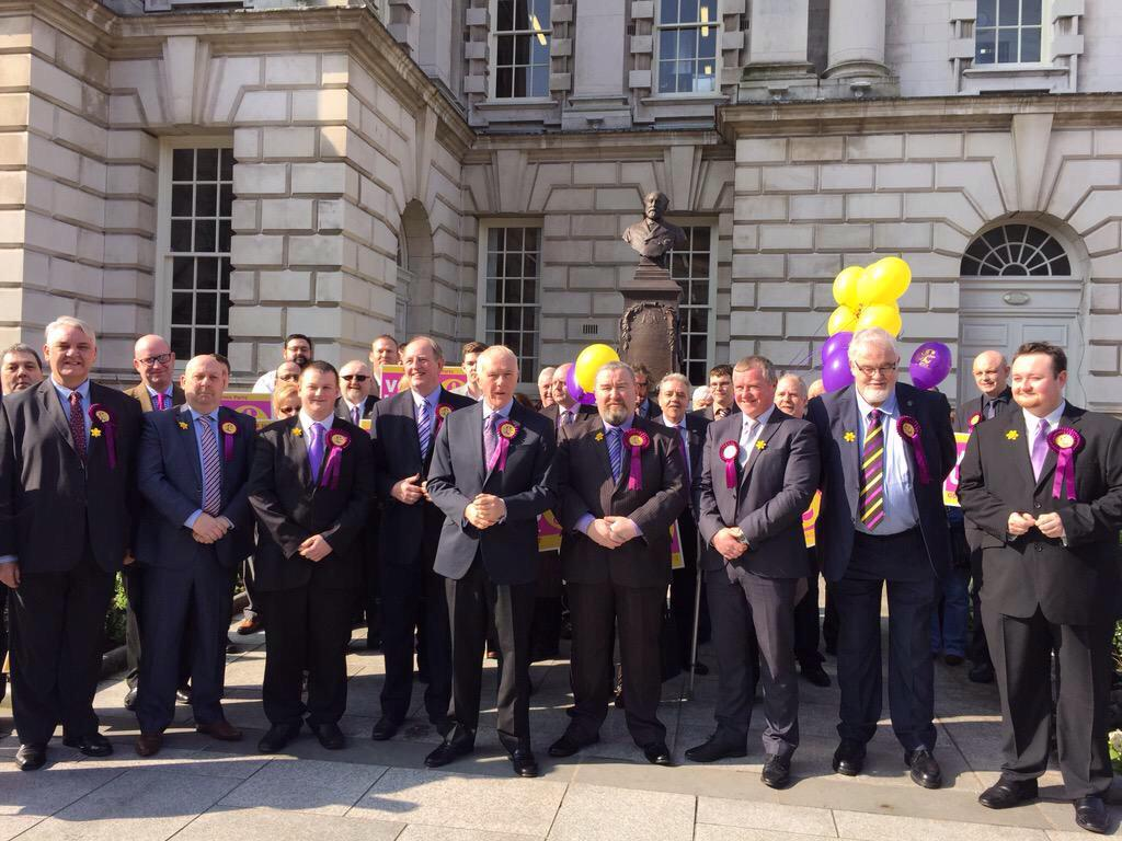 UKIP candidate launch at City Hall. Diversity personified http://t.co/k7TczSExsl