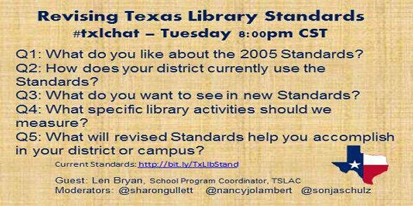 In less than an hour. Please chat with #txlchat abt library standards http://t.co/uelhRA2cBk