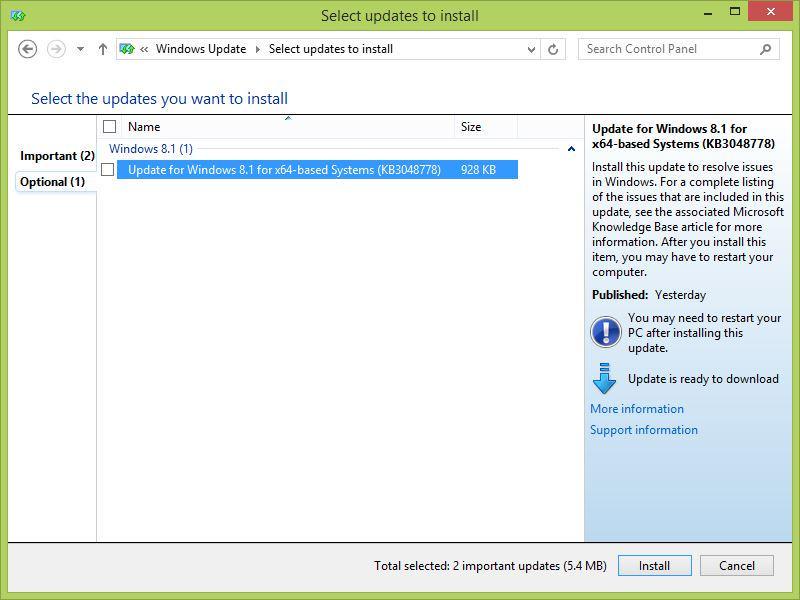 3月のWindows Updateでエクスプローラーの応答が極端に遅くなる問題。修正パッチがようやくWindows Updateで配布されるようになりました。ただしまだOptional … http://t.co/EsSk607GLJ http://t.co/D7SoWATpfR