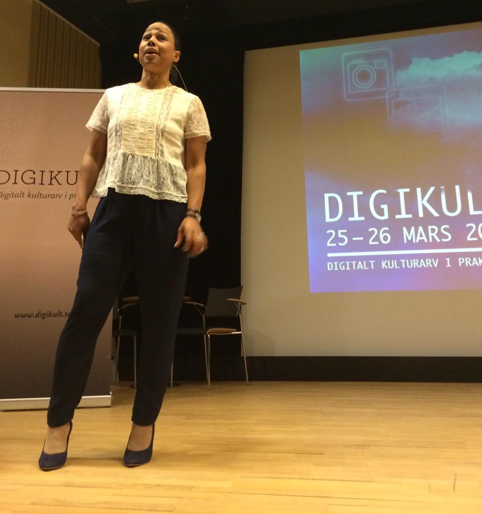 Kulturminister Alice Bah-Kuhnke är med & öppnar #digikult http://t.co/ICfVfdMKWI