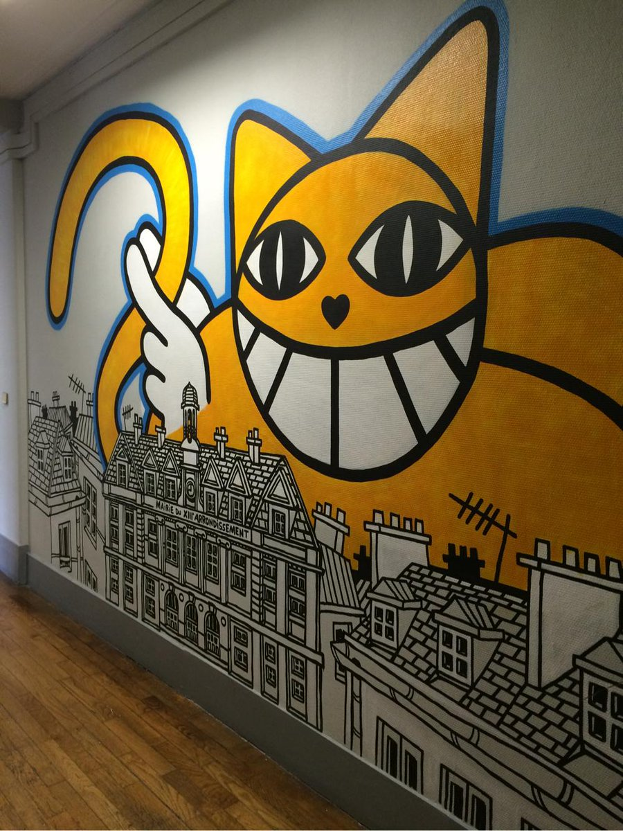 Les couloirs de la #MairieDu13 #paris #StreetArtpic.twitter.com/4FoPmKlFYx