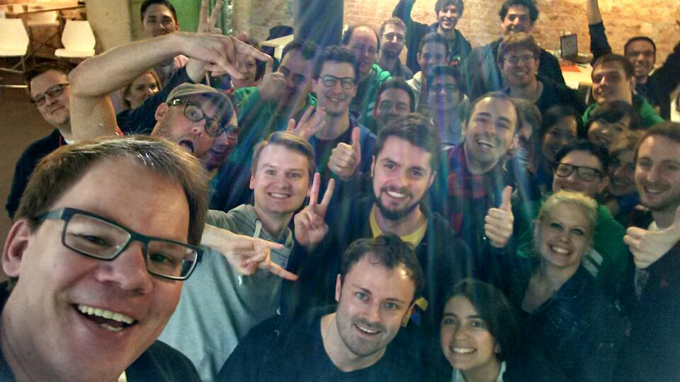 #GoogleLaunchpad #BER startups exercise for today: Get off your chair and squeeze into my selfy. #yay http://t.co/LFV5KhR2zf