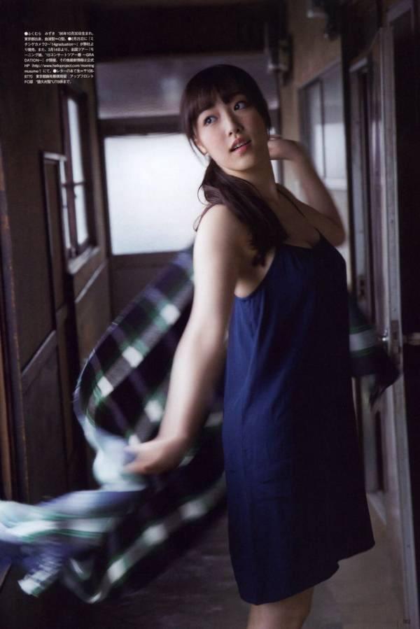 ファッションモデルの譜久村聖さん