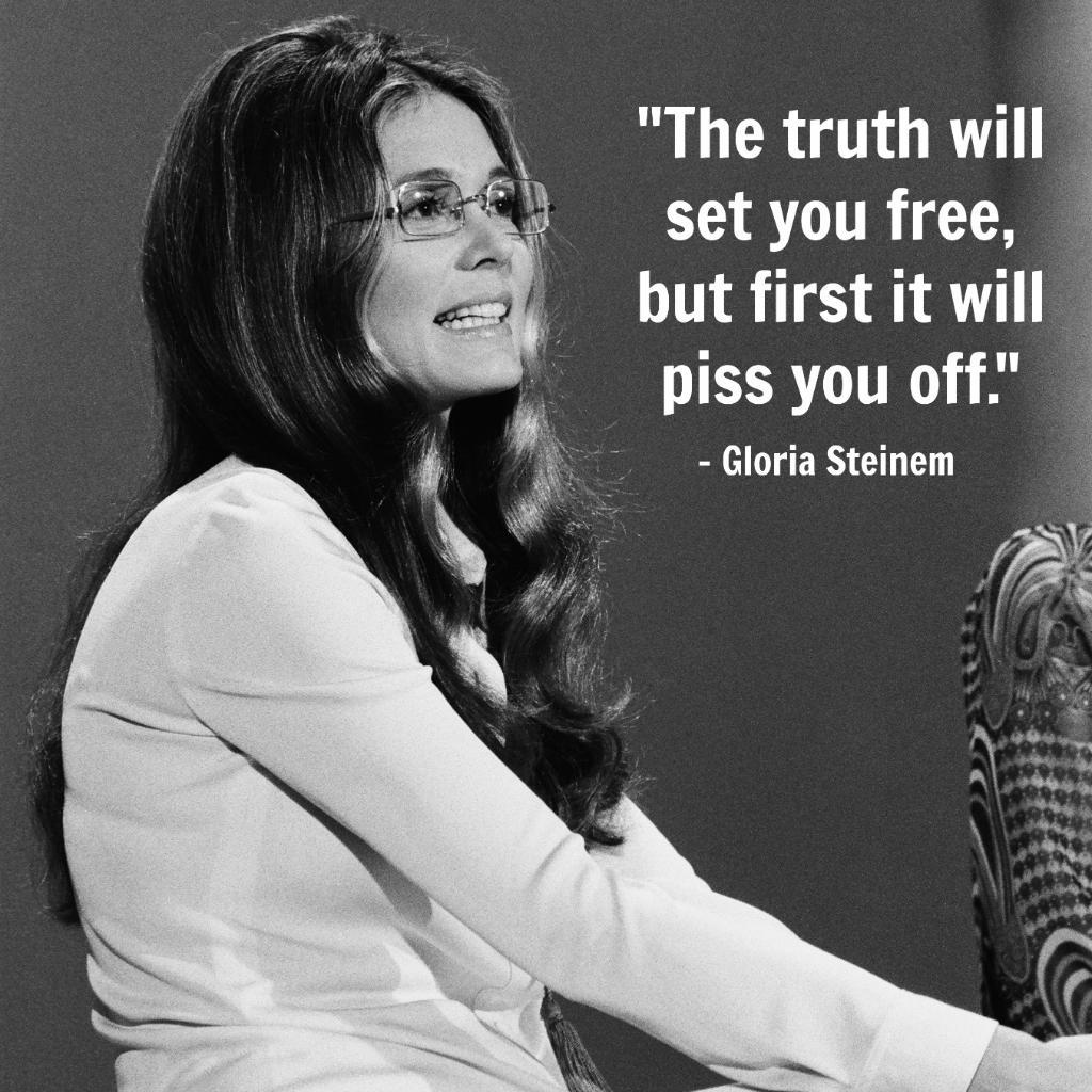 Gloria Steinem : Gloria Steinem quotes | ELLE Magazine (US ...