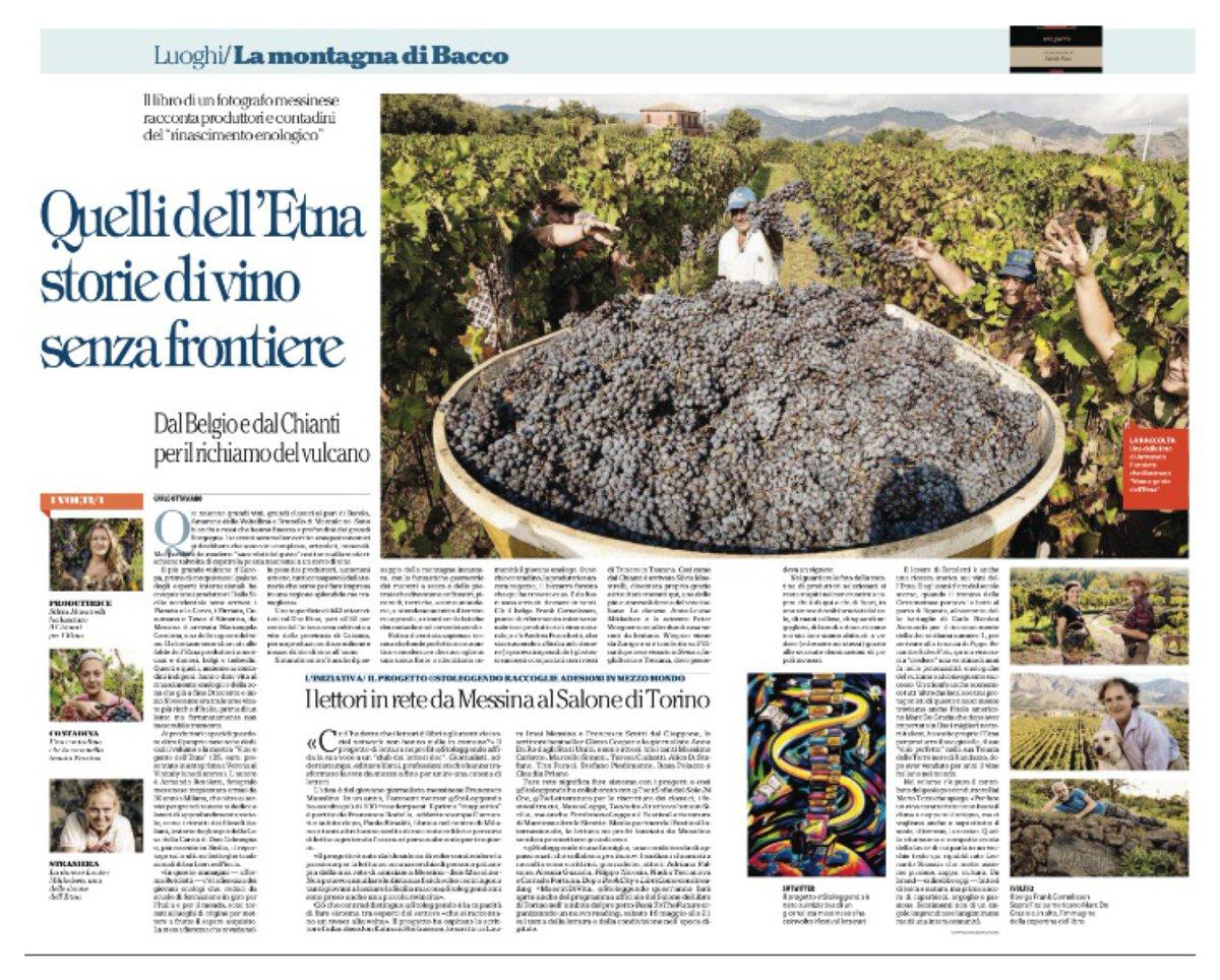 RT @CarloOttaviano Oggi su Repubblica Palermo, grazie a @arotoletti, racconto la passione dei produttori di vino sull'Etna.