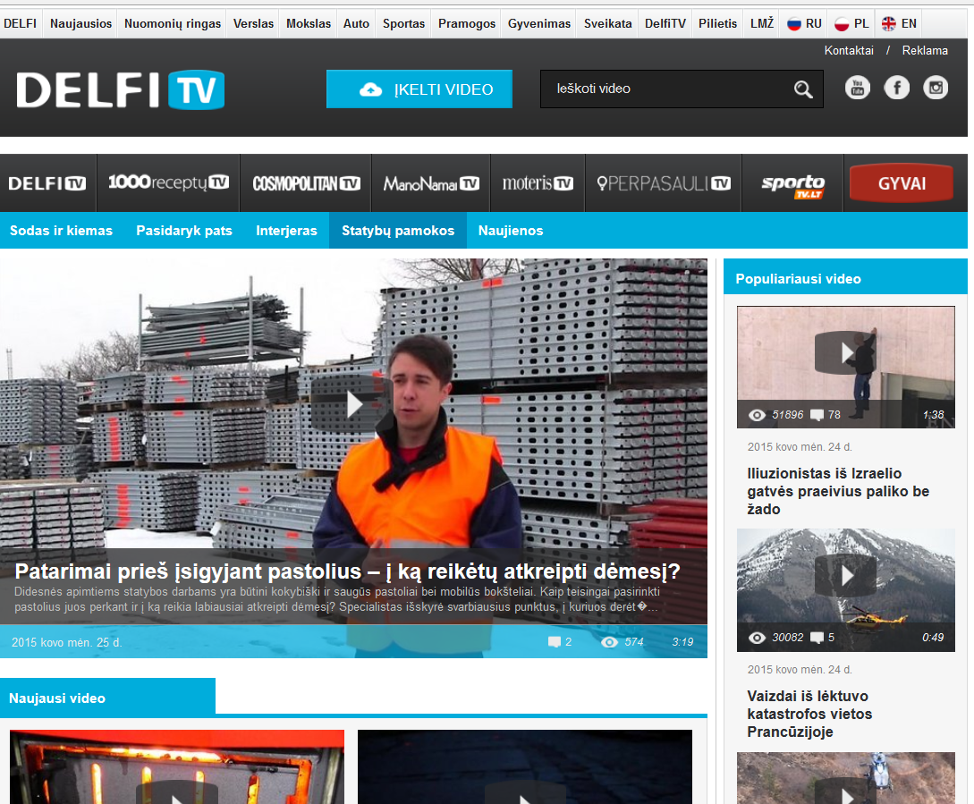 Layher Baltic On Twitter Video Reportage In Biggest Delfit Mass Media Portal Delfi Http Tco Sfftaagv1g Layherbaltic