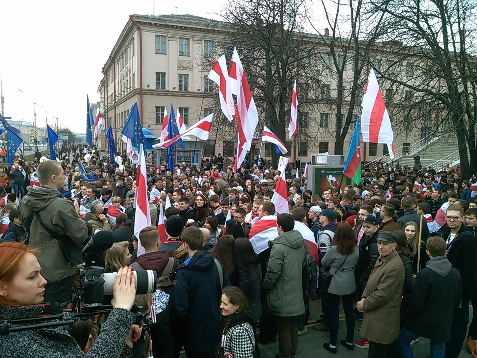 День Воли в Беларуси... и ни одного триколора! (фото)