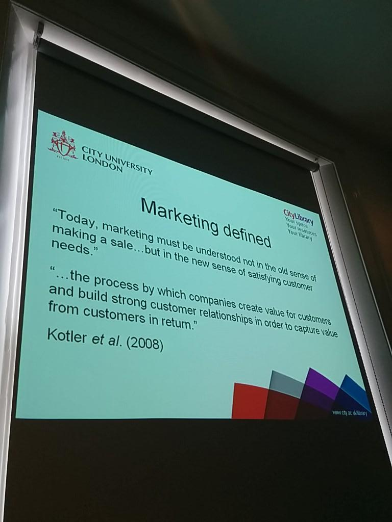 But first, some definitions of marketing... #CPD25PQW5 http://t.co/1AUckF0Ayw
