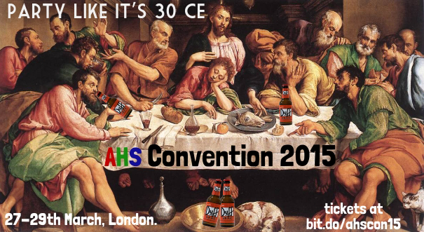 It's 2 days until #ahscon15, tickets: http://t.co/jmF5icJlKX  @YoungHumanists @BHAhumanists  @LondonHumanists http://t.co/bS0M8iroDA
