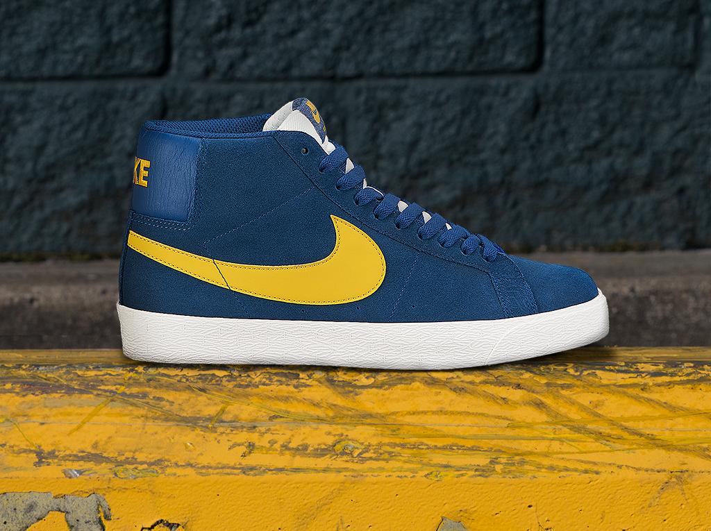 Nike Sb Blue Gold