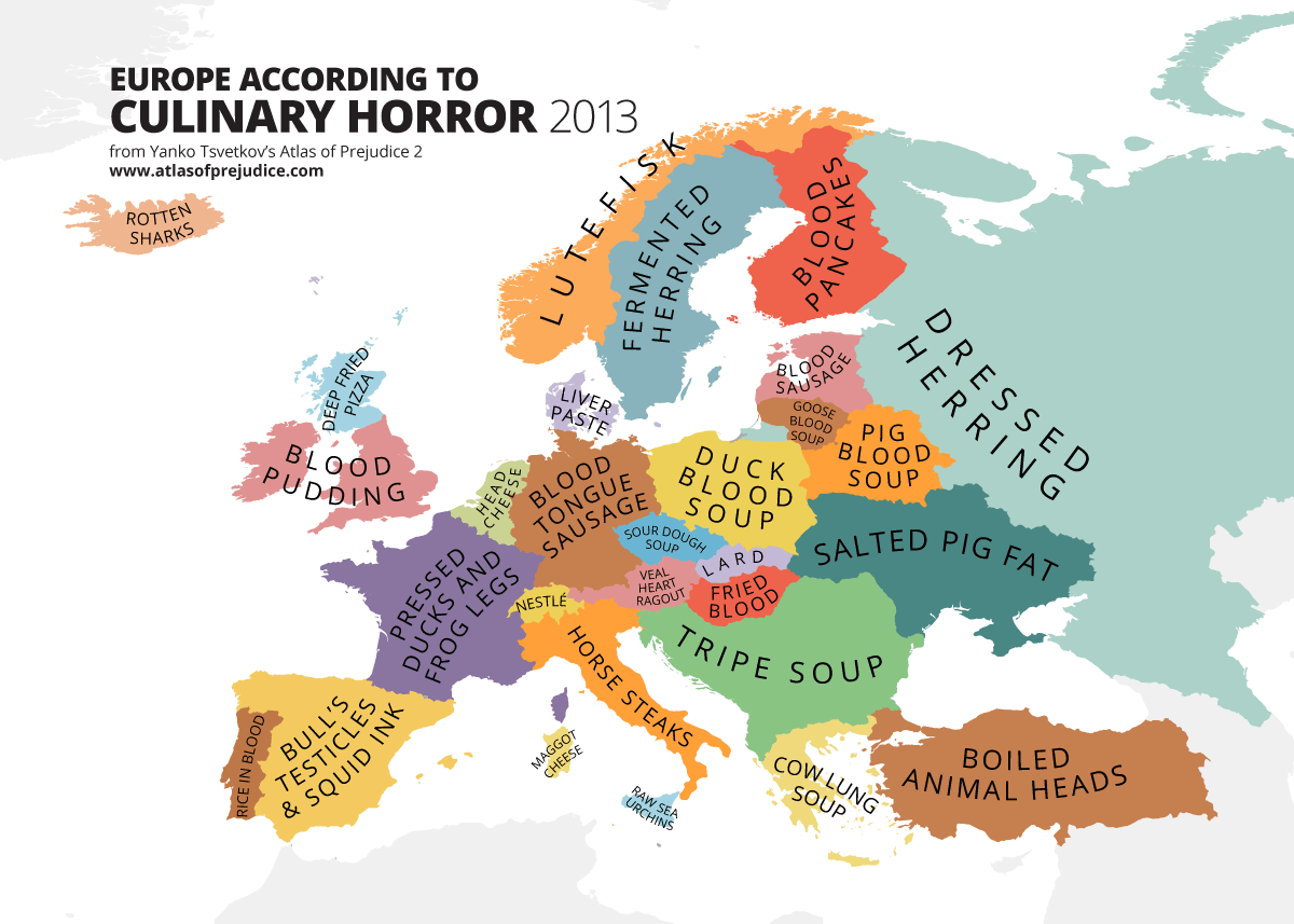 utku on Twitter sweden Europe map according to culinary horror