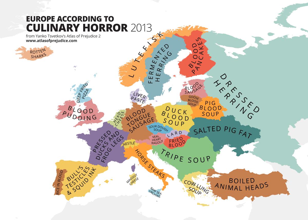 Utku äåø On Twitter Sweden Europe Map According To Culinary - Sweden map 2015