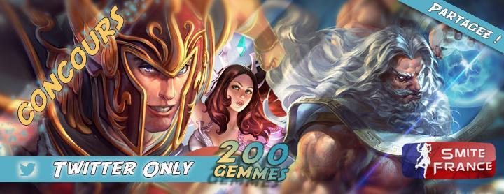 200 Gem Giveaway by SmiteGameFR Image