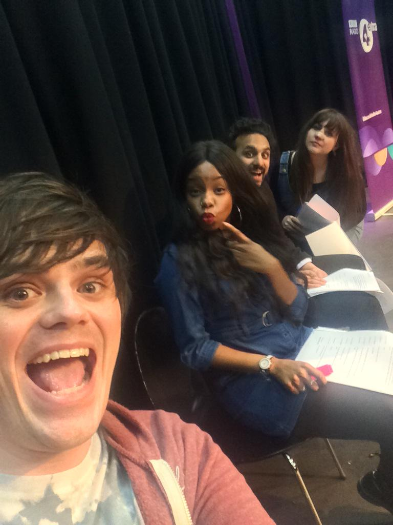 Recording for @NewsjackBBC with these lot! Me and @Chris_Kendall_ have just found out about Zayn we're heartbroken