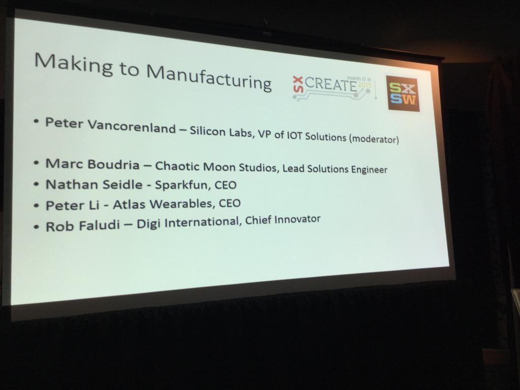 Speaker list for #making2mfg @CreateATX @siliconlabs http://t.co/4ZTzWCJx0z