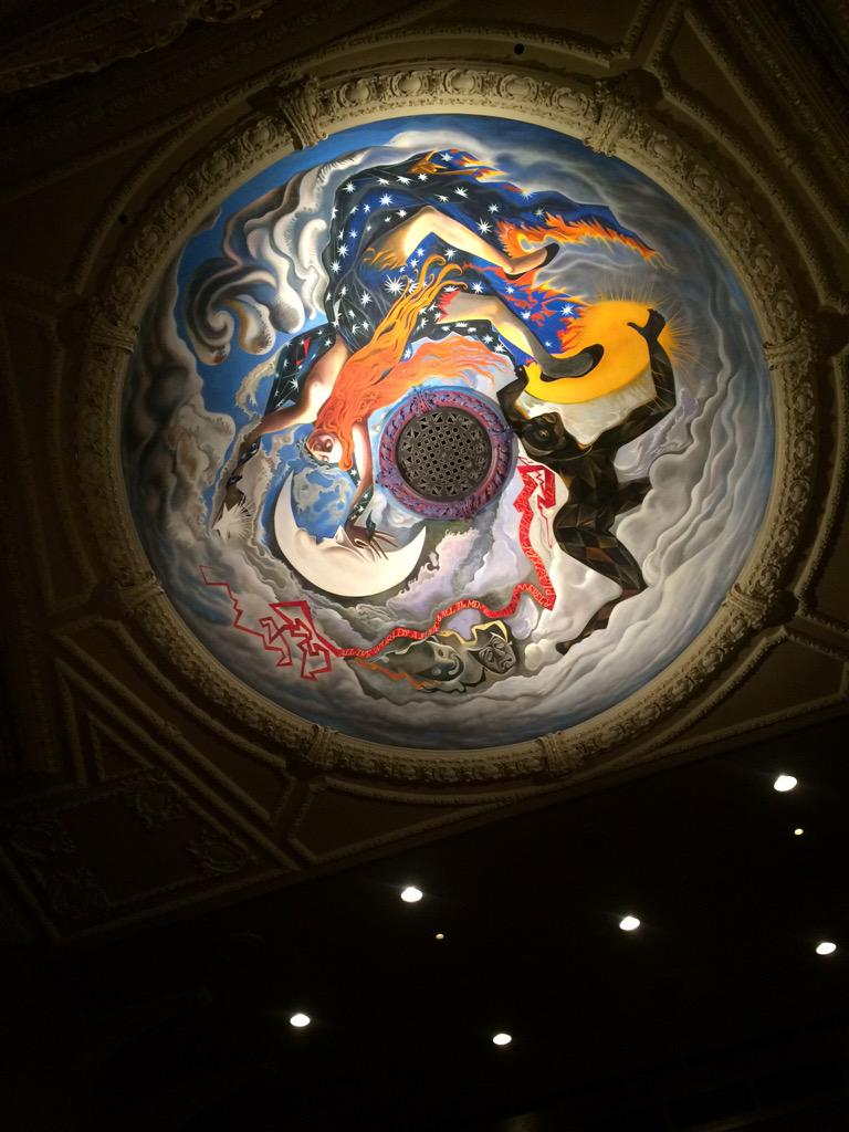 Outstanding performance of Slab Boys at @edtheatres tonight. Nice ceiling too! http://t.co/WCKobNnNEU