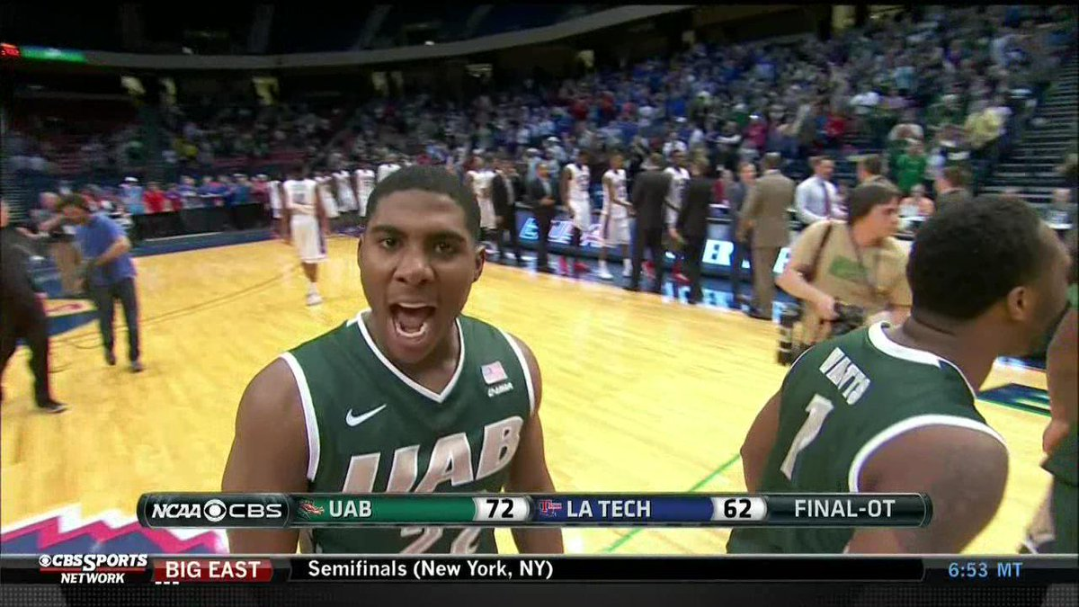 @mmadis1222 ya boy RT @CBSSportsNet: You could say @UAB_MBB is psyched about making it to the C-USA Championship Game http://t.co/dZ86zPnspL