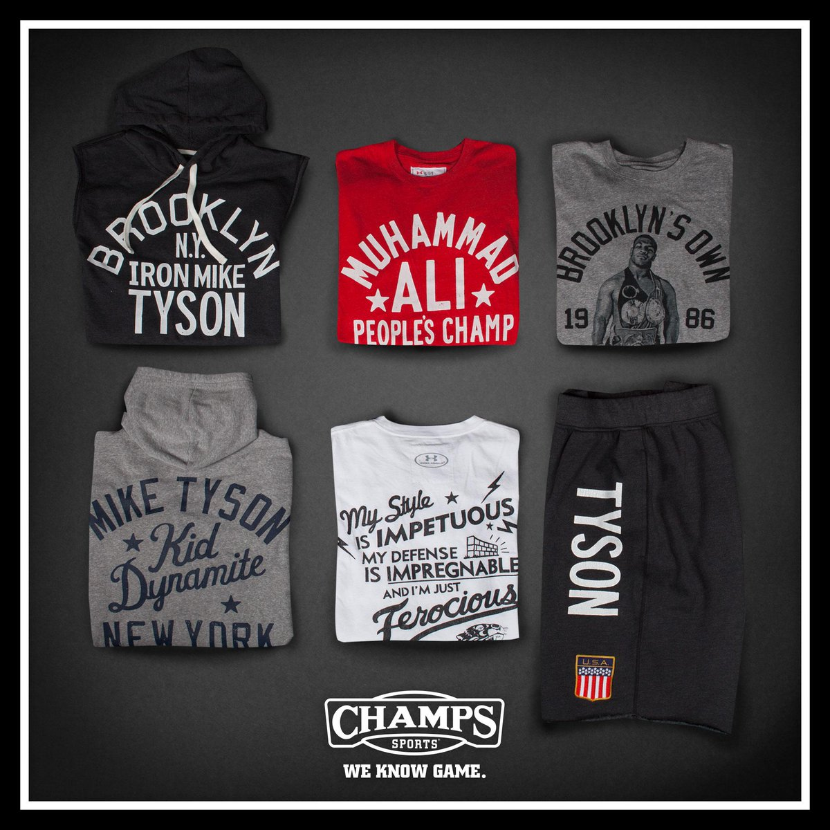 "8f0ca2c721aede "" champssports  . underarmour Roots of Fight Collection is now in select  stores. pic.twitter.com GzTfb1xxNV"" Very dope"