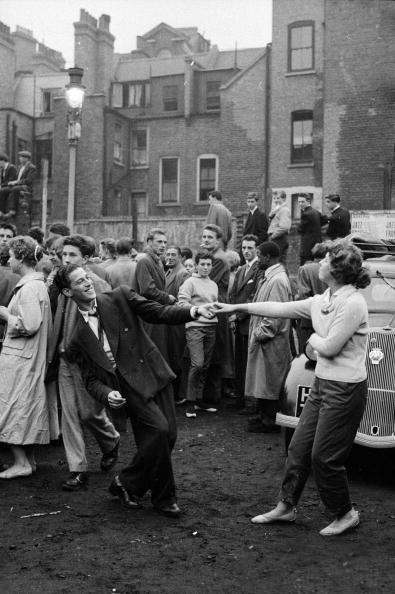 """@patrickbaty: Teenagers dancing to a skiffle band in a carpark (bombsite) in Soho, 1956. http://t.co/wMhAyM6awj"" @KermodeMovie"