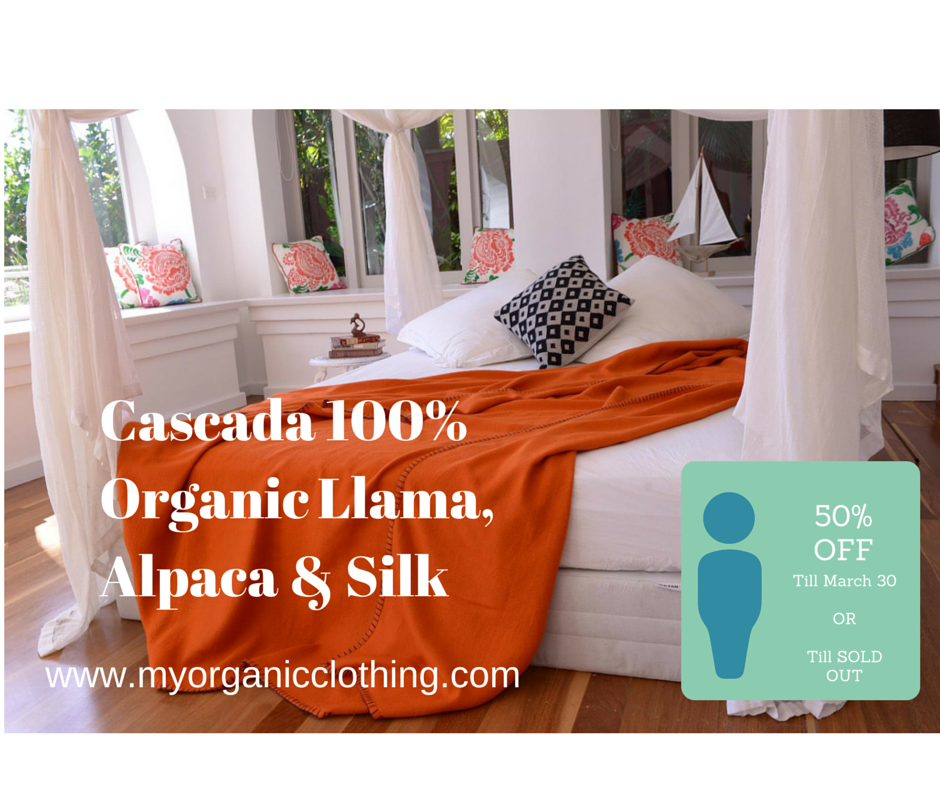Cascad's enormous sale of organic blankets throws and baby goods ends on Match 30. Less than wholesale prices! http://t.co/2BKuMfEsiB