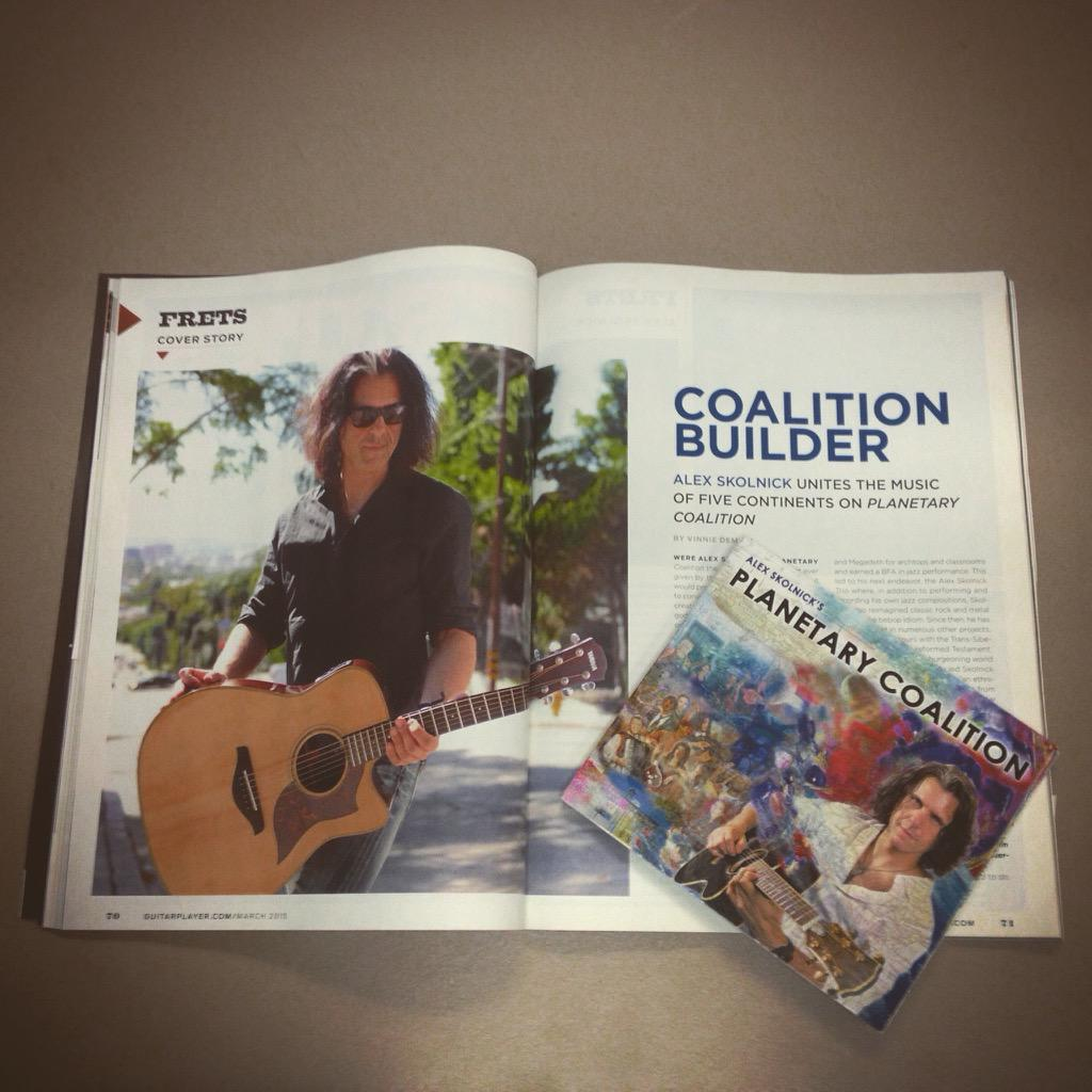 Be sure to catch @AlexSkolnick in the MAR issue of @GuitarPlayerNow ~ check out his FAB new #PlanetCoalition album! http://t.co/fKkVDaa73x