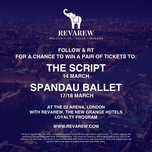 We're giving away tickets for @SpandauBallet's show at @TheO2 to celebrate our new loyalty program #Revarew! #win http://t.co/qqIQ8O8ZhR