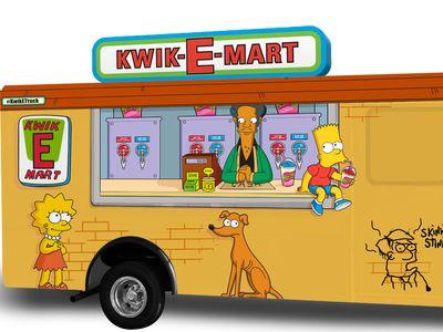 Don't forget @TheSimpsons KWIK-E Mart Slushee truck opens at 12pm at #sxsweats! Driskill & Red River! #sxsw #sxfn http://t.co/zTY2mhQPzy
