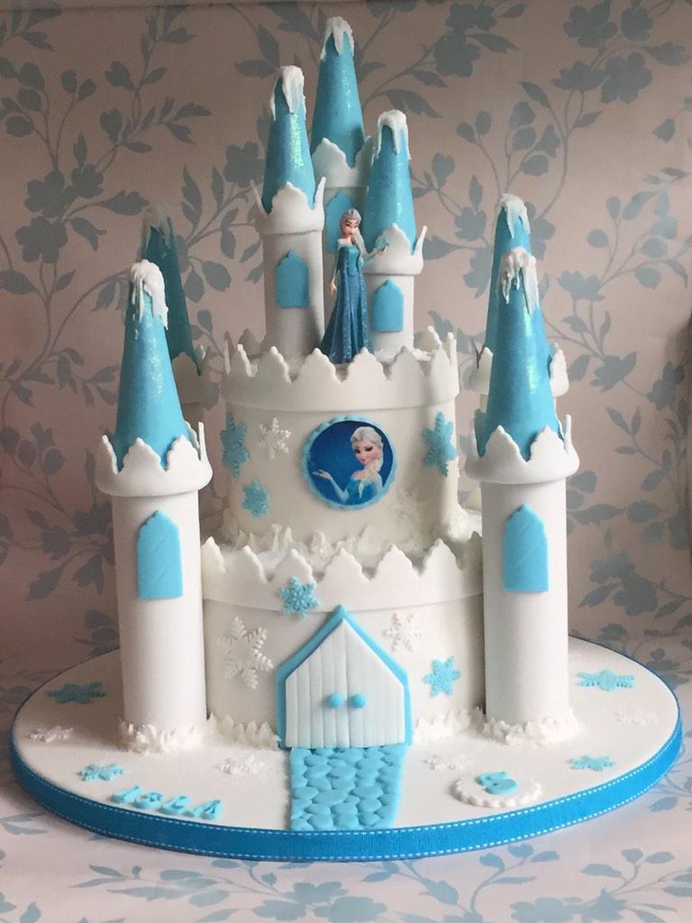 Phenomenal Karensclevercakes On Twitter Elsa Frozen Castle Birthday Cake Funny Birthday Cards Online Aeocydamsfinfo