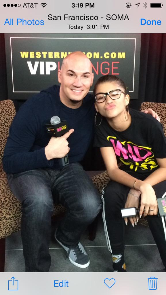Just interviewed @Zendaya at @Wild949   She is soooooo sweet, awesome, talented & mature! http://t.co/gbGQcxeLj2