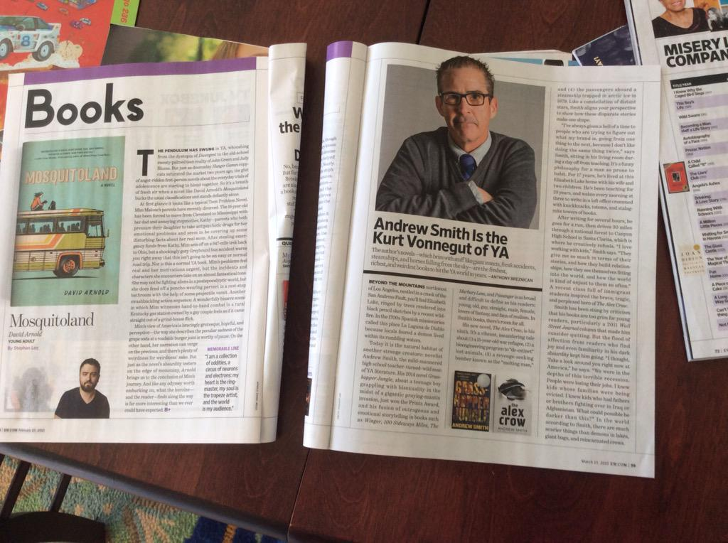 Exhibit C in why authors might be frustrated by sexism: the YA articles/ reviews from the last three weeks of EW http://t.co/NyiIcR55Rw
