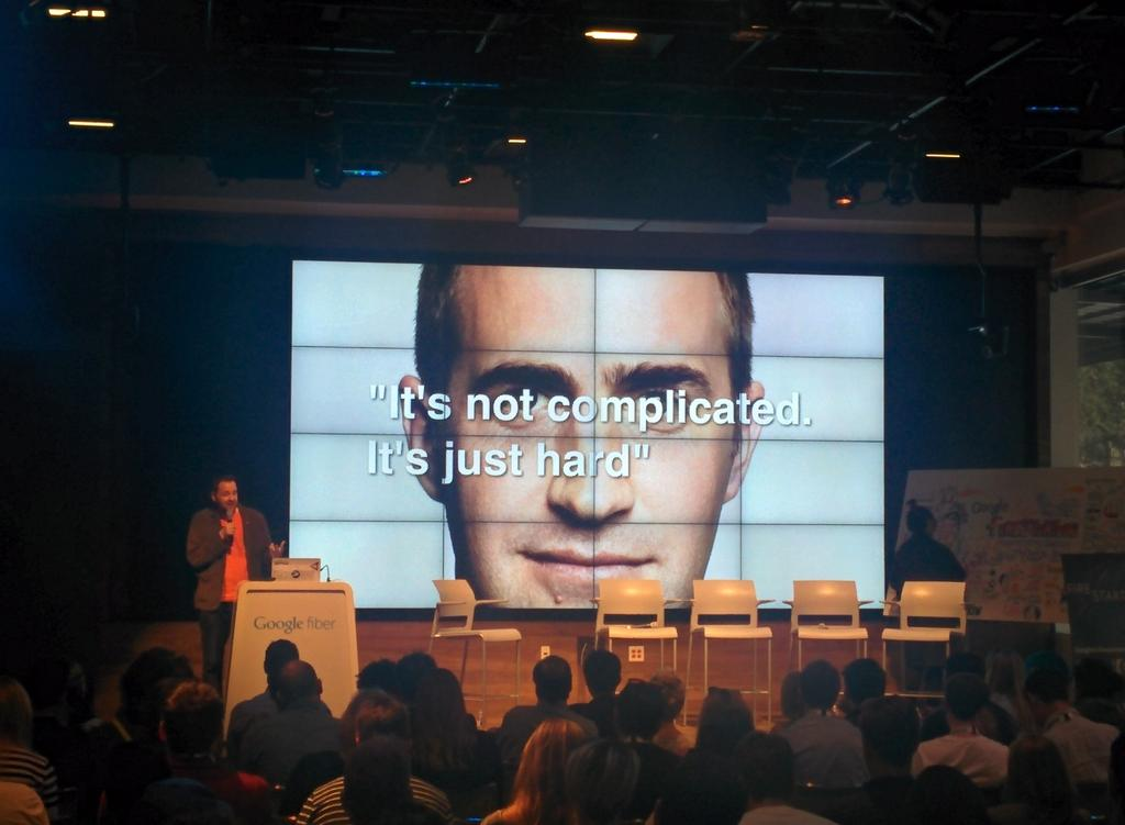 Russell Davies laying down the law at #firestarters http://t.co/uYLvOjCUnK