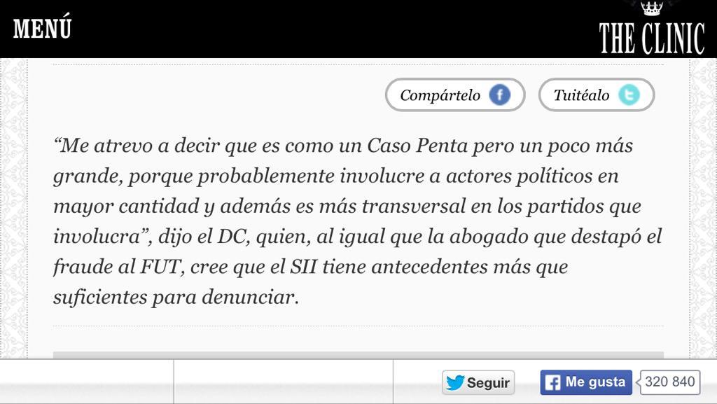 """Dip. Saffirio advierte: """"Caso #SQM es más grande que #CasoPenta"""". SII debe investigar sí o sí http://t.co/NrABNMgAu8 vīa @MaxQuitral Asī es!"""