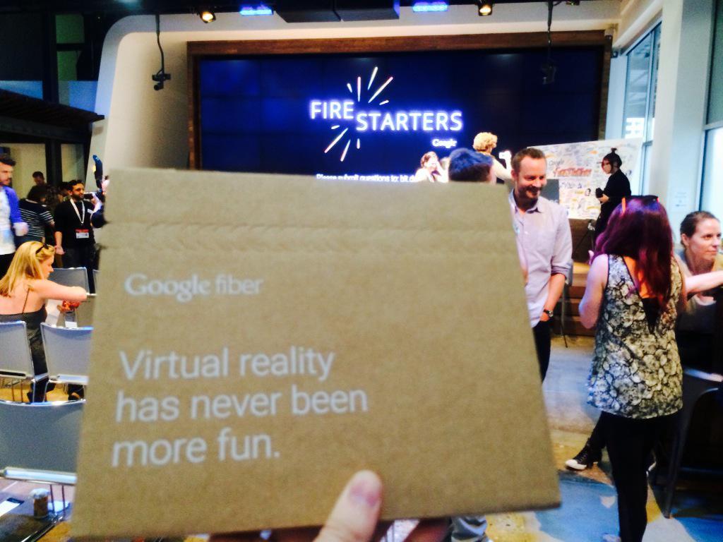 Got myself a Google Cardboard - @roekens would be proud ;) #firestarters #sxsw http://t.co/dRbzvq94cd