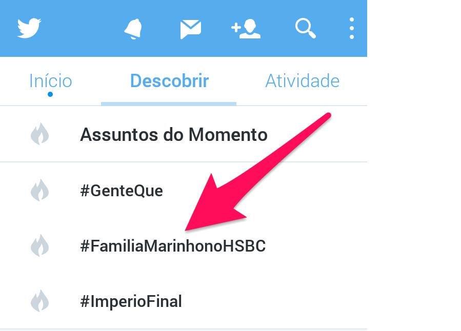 A semana definitivamente não tá pra Globo no Twitter. #FamiliaMarinhonoHSBC http://t.co/2gyFD4z2GU