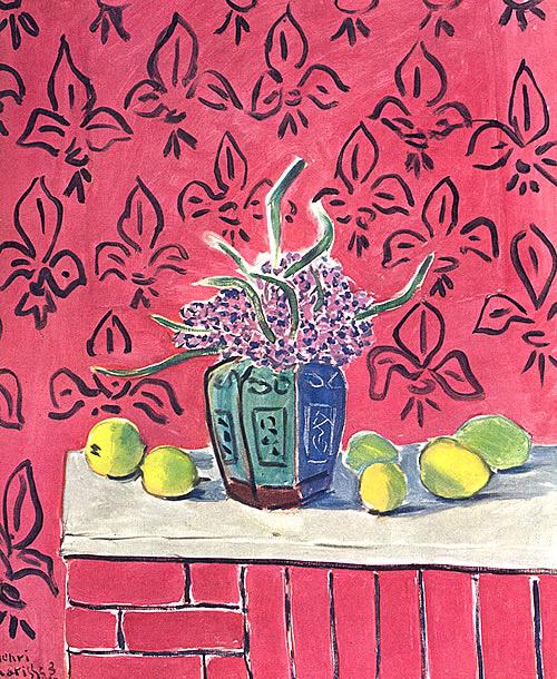 On twitter lemons against pink background by henri for Matisse fenetre a tahiti