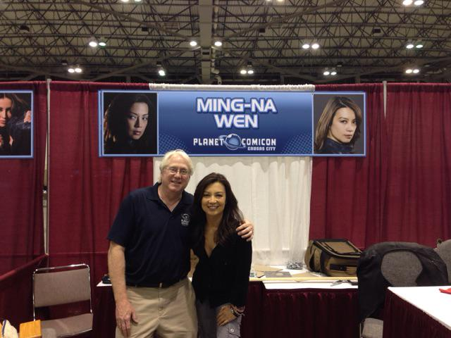 A last shot w/ @MingNa before she left #Planet2015! Hope she can visit us again someday. An amazingly nice woman! http://t.co/WfTnUsWGXx