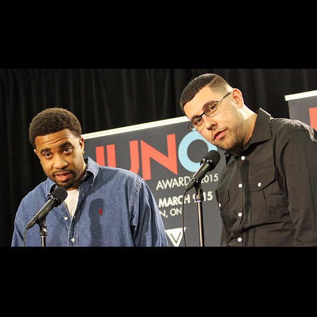 BIG UPS TO THESE GUYS ON WINNING THE JUNO RAP RECORDING! NATURALLY BORN STRANGERS!!!! http://t.co/u4pERAebEo