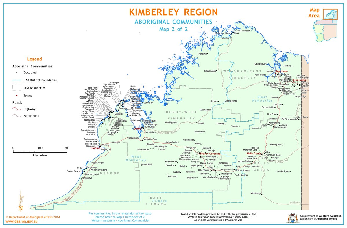SOS BLAK AUSTRALIA on Twitter Map of the Kimberley Aboriginal