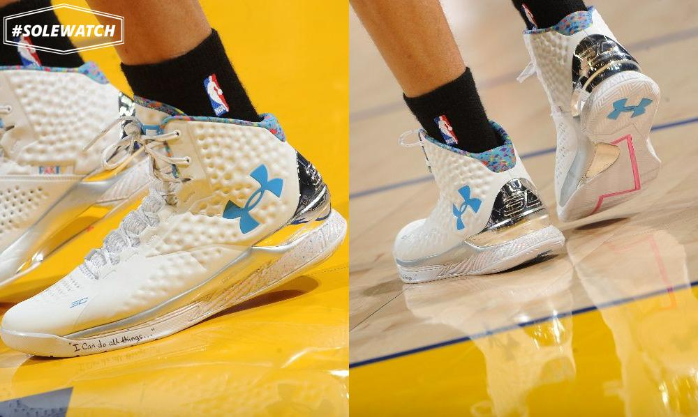 "78ec51e39fc "" SoleCollector   SoleWatch   StephenCurry30 wearing his  Splash Party  Under  Armour Curry One Birthday PE. pic.twitter.com y3P7fstKgP"""