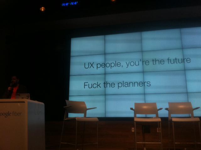 .@undermanager has a message for you, planners :) @google #firestarters #sxsw #sxsw2015 http://t.co/g1loZCpfRT