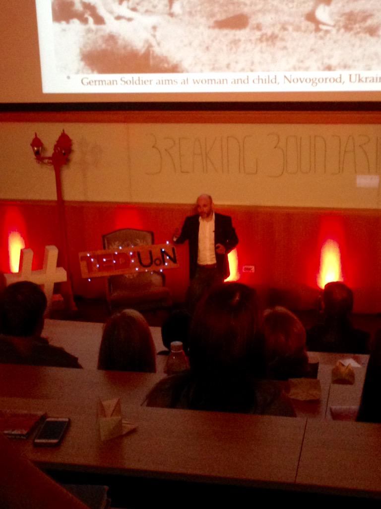 Our CEO @DrJMSmith giving a brilliant talk at @TEDxUoN #BreakingBoundaries http://t.co/lPDHOJI1zP