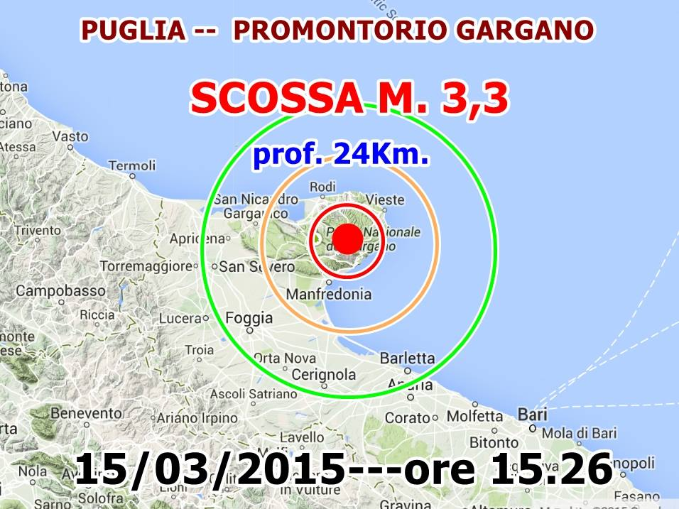Terremoti Italia Oggi: sentito tremare il Gargano tra Mattinata e Monte Sant'Angelo