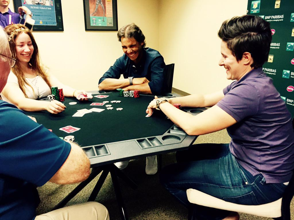 Just hanging out with @RafaelNadal and @VanessaSelbst playing some poker! http://t.co/3m2IbMgdo0