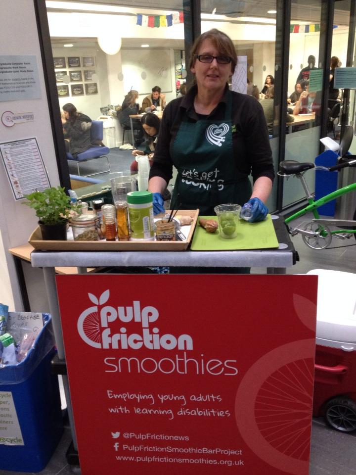 Lovely @PulpFrictionews providing pedal powered smoothies for all at @TEDxUoN :) http://t.co/QZc4EkTVTP