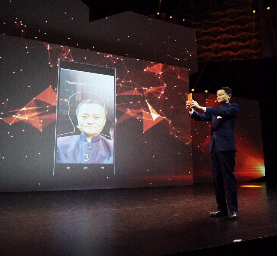 Alibaba's Jack Ma shows how you'll be able to buy things simply by taking a selfie