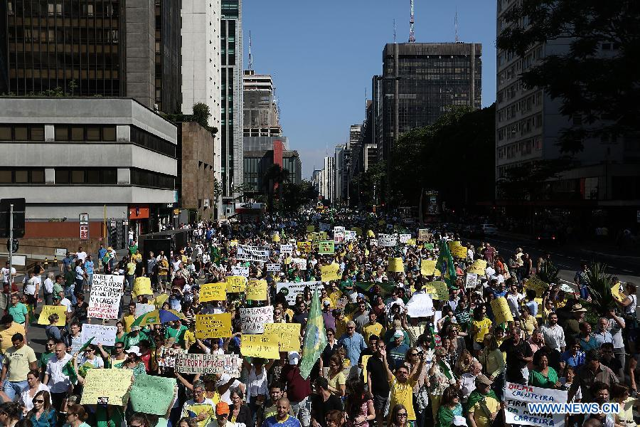 Hundreds of Thousands Of #Brazilians Take Top Cities' Streets By Storm Protesting Against #Government #Corruption