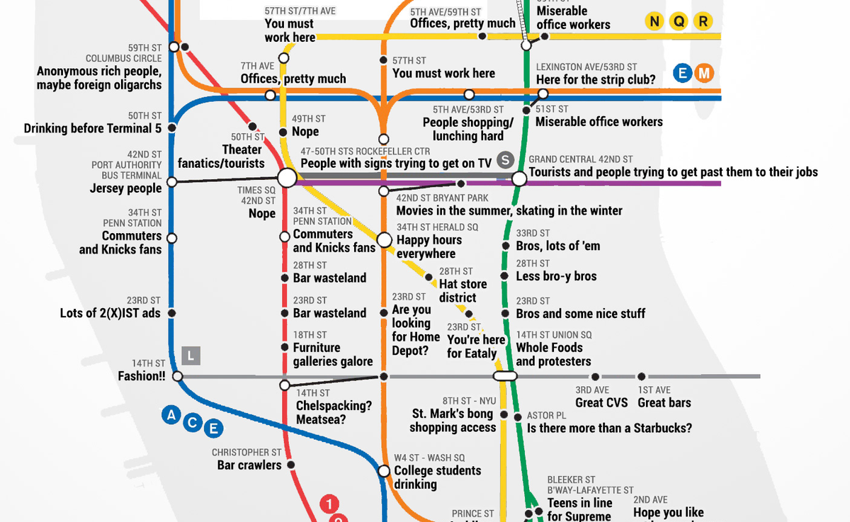 Nyc Subway Map Paper.Paper Magazine On Twitter This Honest Nyc Subway Map Is