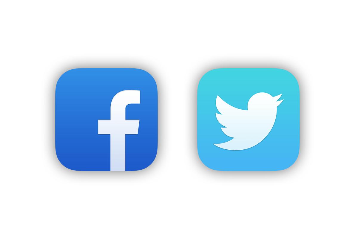 logo twitter facebook vector
